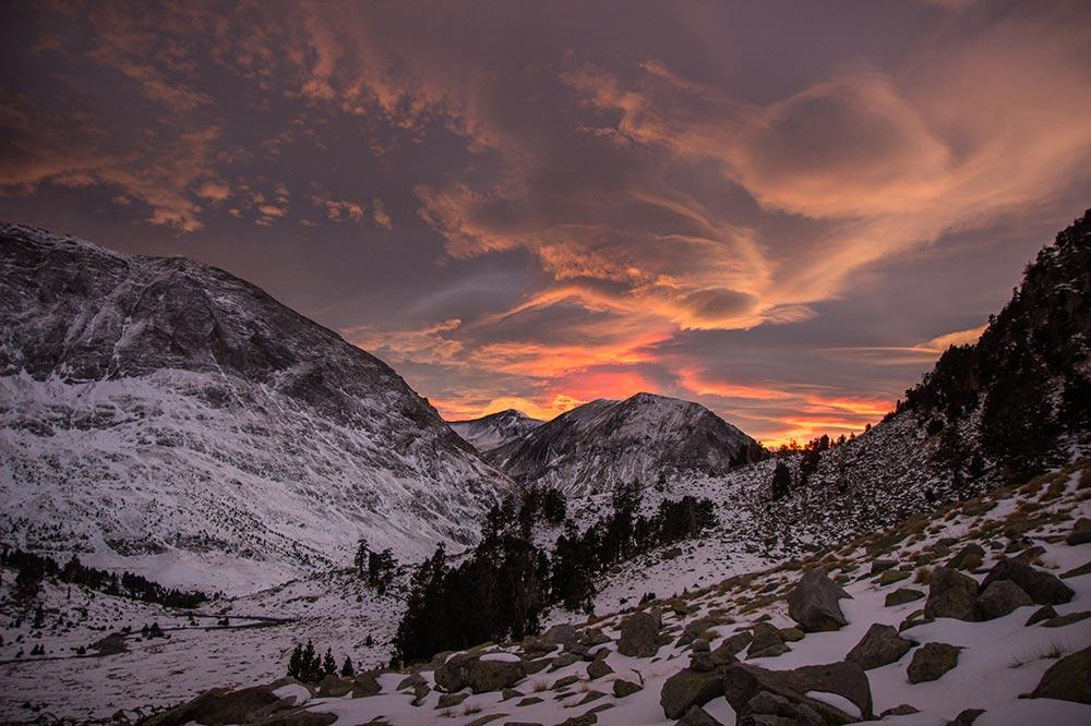 fotografiar atardecer pirineos