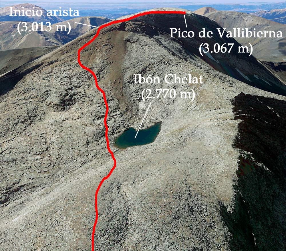 arista pico vallibierna