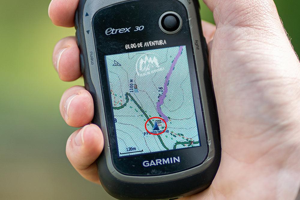 GPS garmin posición