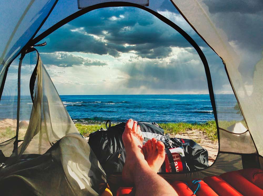 acampada playa