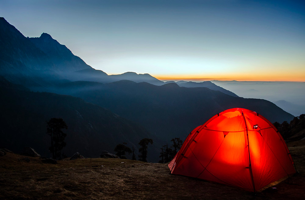 frontal acampada