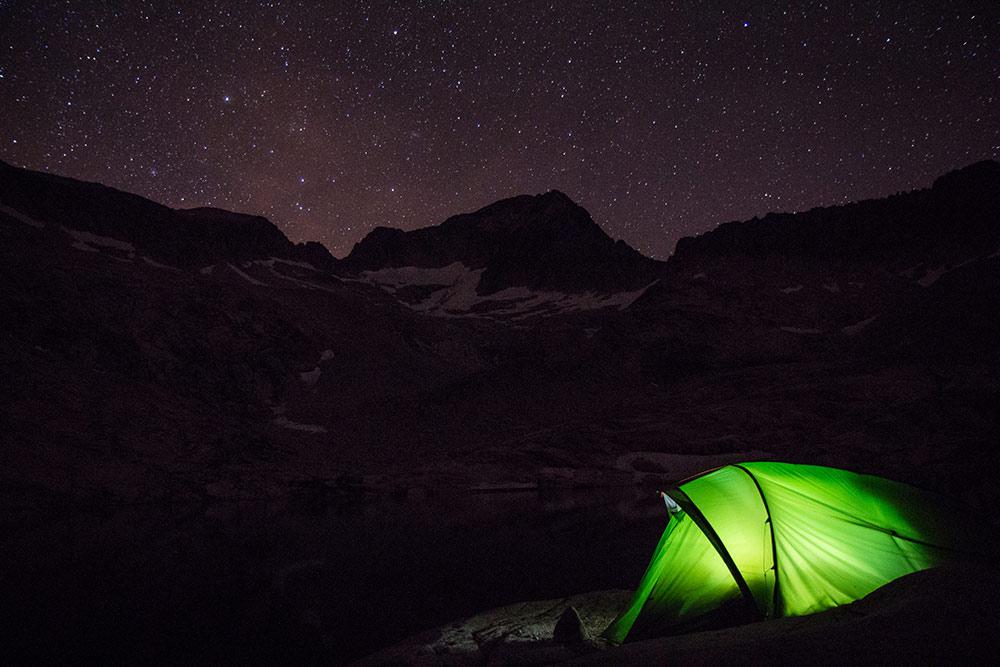 acampar en el aneto